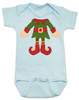 Elf Body Christmas Bodysuit, Little bodies baby Onsie, Santas little elf, Christmas party infant bodysuit, cute funny christmas baby clothes, santas helper, Elf Baby, blue