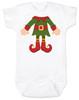 Elf Body Christmas Bodysuit, Little bodies baby Onsie, Santas little elf, Christmas party infant bodysuit, cute funny christmas baby clothes, santas helper, Elf Baby, white