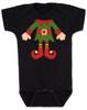 Elf Body Christmas Bodysuit, Little bodies baby Onsie, Santas little elf, Christmas party infant bodysuit, cute funny christmas baby clothes, santas helper, Elf Baby, black