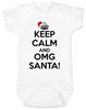 Keep Calm OMG Santa Bodysuit, Keep Calm, funny christmas baby onsie, funny christmas baby clothes