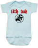 Little Dude Baby Bodysuit, Big Lebowski Baby Onsie, Fuck it dude, let's go bowling, The Big Lebowski, The Dude, Blue