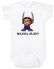 Chucky Bodysuit, Chucky Baby bodysuit, Unique Halloween baby Bodysuit, horror movie baby onsie, Chucky Wanna Play?