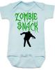 Zombie Snack Bodysuit, Zombie Baby, Halloween Baby Bodysuit, Funny Halloween, blue
