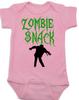 Zombie Snack Bodysuit, Zombie Baby, Halloween Baby Bodysuit, Funny Halloween, pink