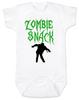 Zombie Snack Bodysuit, Zombie Baby, Halloween Baby Bodysuit, Funny Halloween, white