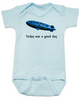Today was a good day baby Bodysuit, It was a good day, good year blimp, Ice Cubes a pimp, blue