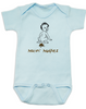 Makin Mudpies baby Bodysuit, playing in the mud, poop baby onsie, blue