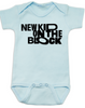 New Kid on the Block baby Bodysuit, NKOTB, New Kids on the Block Band, 80's Baby Onsie, blue
