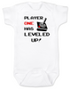 Player has Leveled Up Baby Bodysuit, Personalized Birthday Bodysuit, Gamer Baby Birthday, Geeky Gamer bodysuit, Video Game baby onsie, 80's Baby