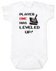Player has Leveled Up Baby Bodysuit, Personalized Birthday Bodysuit, Gamer Baby Birthday, Geeky Gamer bodysuit, Video Game baby onsie, 80's Baby