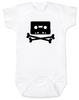 Piratebay baby Bodysuit, Internet Pirate onsie, classic cassette tape, download music, music tape, skull and crossbones, white