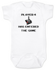 Player has entered the gameComputer Gaming babyGamer BabyGeeky Gamer BodysuitVideo Game baby Bodysuit80's Baby BodysuitFunny Baby ShowerPunk Rock Babyunique baby shower giftsbadass baby clothesinappropriate baby Bodysuitsbaby Bodysuits with funny sayingsFunny baby clothes