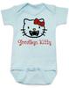 Goodbye Kitty Baby Bodysuit, Hello Kitty Vampire Onsie, Goodbye Kitty baby bodysuit, Cute Halloween Bodysuit, blue