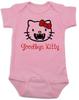 Goodbye Kitty Baby Bodysuit, Hello Kitty Vampire Onsie, Goodbye Kitty baby bodysuit, Cute Halloween Bodysuit, pink