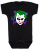 The Joker baby Bodysuit, Joker Halloween baby onsie, black