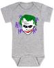 The Joker baby Bodysuit, Joker Halloween baby onsie, grey