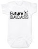 Future Badass Baby Bodysuit, skull baby onsie, personalize it with a custom name, boy
