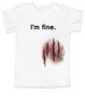 bloody scratch wound child teezombie attack teeHalloween child teebloody wound child shirtHalloween toddler shirtUnique Halloween shirtFunny baby clothesOffensive baby shirt