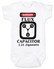 Back to the future baby Bodysuit, Flux Capacitor baby onsie, Marty Mcfly, Classic Movies, 80's Baby Bodysuit, 1.21 Gigawatts, white