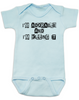 Adorable and Killing it baby Bodysuit, punk baby onsie, punk rock baby clothes, I'm adorable, I'm killin it, cute and cool baby bodysuit, blue