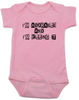 Adorable and Killing it baby Bodysuit, punk baby onsie, punk rock baby clothes, I'm adorable, I'm killin it, cute and cool baby bodysuit, pink