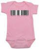 Made in Vagina baby Bodysuit, barcode baby onsie, made in china, made in Vachina, pink
