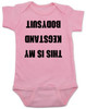 Kegstand Bodysuit, Inappropriate baby clothes, baby shower gag gift, punk rock baby, Rock n Roll Baby bodysuit, Badass baby clothes, rock and roll infant creeper, hardcore baby, hilarious Bodysuit, Keg Stand Bodysuit, pink