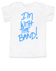 I'm with the Band T-shirt, Musical parents, punk rock bodysuit, Rock n Roll Baby clothes, Dad is in the Band, Mom rocks, Badass toddler shirts, rock and roll infant creeper, Band tee, Rock and Roll kid clothes, music group baby shirt