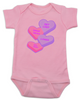 Funny Candy Heart Bodysuit, Valentines Day baby bodysuit, Valentine's Day hearts, Baby valentine creeper, Offensive candy heart baby onsie, pink