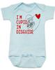 Cupid in disguise Bodysuit, valentines day baby Bodysuit, Cupid baby bodysuit, Funny Valentine's Day onsie, blue