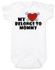 My heart belongs to Mommy Bodysuit, I love my mommy infant bodysuit, My mommy rocks, Badass mom baby onsie, Valentines day baby Bodysuit, Rock n Roll Valentine's, Badass Baby Valentine