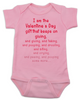 Valentine's Gift that keeps on giving Baby Bodysuit, Funny valentines day Bodysuit