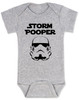 Star Wars Storm Pooper Baby Bodysuit, grey