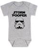 Star Wars Storm Pooper Baby Bodysuit, grey