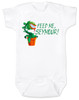 Feed Me Seymour baby Bodysuit, Little Shop of Horrors, Funny movie baby Bodysuit, classic movie infant bodysuit, Audrey plant, Venus fly trap, rick moranis, hangry baby, hungry baby onsie