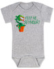 Feed Me Seymour baby Bodysuit, Little Shop of Horrors, Funny movie baby Bodysuit, classic movie infant bodysuit, Audrey plant, Venus fly trap, rick moranis, hangry baby, hungry baby onsie, grey