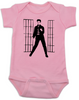 Elvis Presley jailhouse rock, Jailhouse Rock Baby Bodysuit, elvis baby bodysuit, classic rock and roll baby Bodysuit, Elvis dancing baby onsie, pink