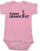 Future Democrat baby Bodysuit, Little Democrat, Left Wing infant bodysuit, Democratic Party baby Bodysuit, Liberal, Donkey, Political baby onsie, baby politics, Election Year Baby, 2016 Election, Hilary Clinton baby Bodysuit, Bernie Sanders baby Bodysuit, pink
