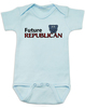 Future Republican baby Bodysuit, Little Republican, Right Wing infant bodysuit, Republican Party baby Bodysuit, Conservative, Elephant, Political baby onsie, baby politics, Election Year Baby, 2016 Election, blue