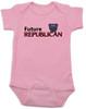 Future Republican baby Bodysuit, Little Republican, Right Wing infant bodysuit, Republican Party baby Bodysuit, Conservative, Elephant, Political baby onsie, baby politics, Election Year Baby, 2016 Election, pink