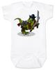 Samurai Pirate Trex baby Bodysuit, Ninja, dinosaur