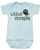 Little Stinker Baby Bodysuit, Stinky baby onsie, skunk, Blue