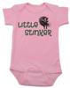 Little Stinker Baby Bodysuit, Stinky baby onsie, skunk, pink