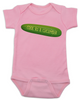 Cool as a Cucumber Baby Bodysuit, pink