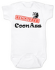 Registered Coon Ass Baby Bodysuit, Coon-Ass, Certified Coon Ass, Cajun baby, born in Louisiana, Registered coon-ass