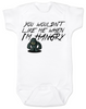 Hangry Baby Bodysuit, You wouldn't like me when I'm hangry onsie, Hungry baby, feed me now