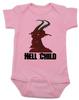 Hell Child Baby Bodysuit, Wild Child, crazy baby, Little Rebel, demon spawn, devil baby, pink