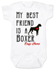 My Best Friend is a Boxer Baby Bodysuit, Boxer Puppy Love Onsie, Babies Best Friend, Fur Babies best friend, Love my doggy, personalized dog lover Bodysuit, unique baby shower gift, personalized baby birthday gift, cute I love my dog baby clothes, badass dog Bodysuit, Rescue dog, Personalized with custom name