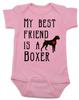 My Best Friend is a Boxer Baby Bodysuit, Boxer Puppy Love Onsie, Babies Best Friend, Fur Babies best friend, Love my doggy, personalized dog lover Bodysuit, unique baby shower gift, personalized baby birthday gift, cute I love my dog baby clothes, badass dog Bodysuit, Rescue dog, pink