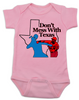 Texas Rangers Don't mess with texas Baby Bodysuit, Rougned Odor Bodysuit, Jose Bautista punch, don't mess with texas baby Bodysuit, texas rangers punch, rougned odor, jose bautista, funny baseball baby, Texas baseball punch, funny texas ranger baby Bodysuit, funny baseball onsie, baseball Bodysuit, pink